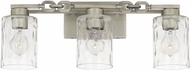 Capital Lighting 127931AN-455 Wallace Contemporary Antique Nickel 3-Light Bathroom Vanity Lighting