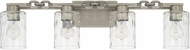 Capital Lighting 127941AN-455 Wallace Modern Antique Nickel 4-Light Bathroom Vanity Light
