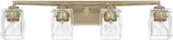 Capital Lighting 128141WG-459 Karina Contemporary Winter Gold 4-Light Vanity Light Fixture