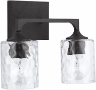 Capital Lighting 137321BI-486 Clint Black Iron 2-Light Bathroom Wall Sconce