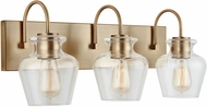 Capital Lighting 138131AD-490 Danes Aged Brass 3-Light Bathroom Vanity Lighting