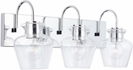Capital Lighting 138131CH-490 Danes Chrome 3-Light Bathroom Light Fixture