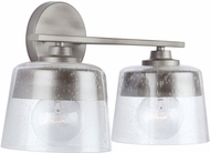 Capital Lighting 138221WY Decker Modern Washed Grey 2-Light Bath Lighting Fixture