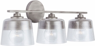 Capital Lighting 138231WY Decker Modern Washed Grey 3-Light Bath Light Fixture