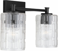 Capital Lighting 138321MB-491 24 Modern Matte Black 2-Light Bathroom Lighting Fixture