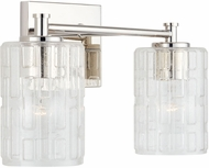 Capital Lighting 138321PN-491 24 Modern Polished Nickel 2-Light Bathroom Light