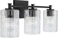 Capital Lighting 138331MB-491 24 Contemporary Matte Black 3-Light Bathroom Wall Light Fixture