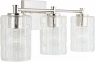 Capital Lighting 138331PN-491 24 Contemporary Polished Nickel 3-Light Bath Lighting Sconce