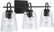 Capital Lighting 138332BI-492 23 Contemporary Black Iron 3-Light Bathroom Sconce Lighting