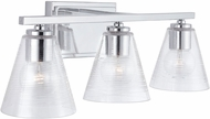 Capital Lighting 138333CH-493 22 Contemporary Chrome 3-Light Bathroom Lighting Sconce
