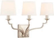 Capital Lighting 138731WG-698 Ophelia Traditional Winter Gold 3-Light Bathroom Light Sconce