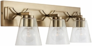 Capital Lighting 138931AD-494 Jordyn Modern Aged Brass 3-Light Bath Wall Sconce