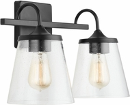 Capital Lighting 139122MB-496 20 Matte Black 2-Light Vanity Light Fixture