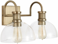 Capital Lighting 139123AD-497 21 Contemporary Aged Brass 2-Light Bath Sconce