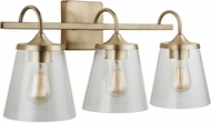Capital Lighting 139132AD-496 20 Aged Brass 3-Light Bathroom Vanity Light