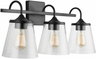 Capital Lighting 139132MB-496 20 Matte Black 3-Light Bath Lighting Fixture