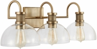 Capital Lighting 139133AD-497 21 Contemporary Aged Brass 3-Light Bath Light Fixture