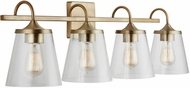 Capital Lighting 139142AD-496 20 Aged Brass 4-Light Vanity Lighting