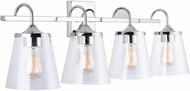 Capital Lighting 139142CH-496 20 Chrome 4-Light Bathroom Light