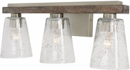 Capital Lighting 140531HN-503 Connor Black Wash and Matte Nickel 3-Light Bathroom Lighting