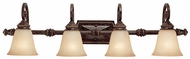 Capital Lighting 1524CB-287 Barclay Traditional Chesterfield Brown 4-Light Bath Light Fixture