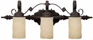 Capital Lighting 1903RI-125 River Crest Traditional Rustic Iron 3-Light Bath Sconce