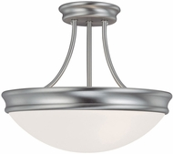 Capital Lighting 2037MN Matte Nickel Semi-Flush Flush Mount Light Fixture