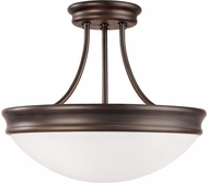 Capital Lighting 2037OR Oil Rubbed Bronze Semi-Flush Flush Mount Lighting Fixture
