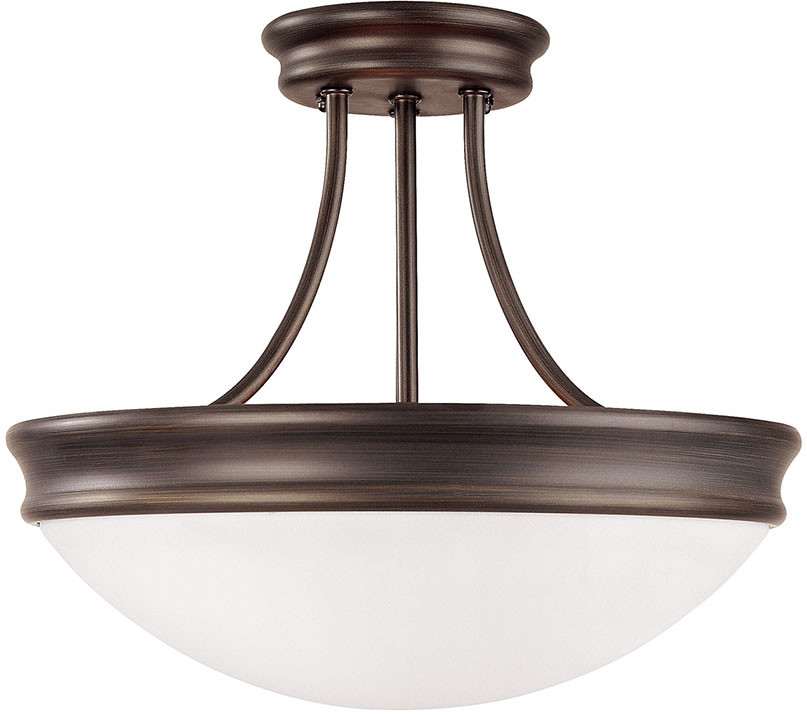 Capital Lighting 2037or Oil Rubbed Bronze Semi Flush Mount Fixture