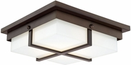 Capital Lighting 213912BB-LD Capital Ceilings Burnished Bronze LED Flush Mount Lighting