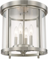 Capital Lighting 214141BN Capital Ceilings Brushed Nickel Flush Mount Ceiling Light Fixture