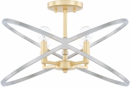 Capital Lighting 220841FI Fire & Ice Modern Fire and Ice Ceiling Light Fixture