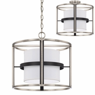 Capital Lighting 225241BT Tux Contemporary Black Tie Flush Mount Light Fixture / Pendant Light