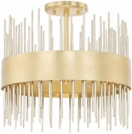 Capital Lighting 225441FI Lena Modern Fire and Ice Flush Ceiling Light Fixture