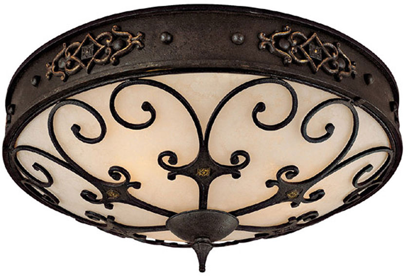 Capital Lighting 2287ri River Crest Traditional Rustic Iron Ceiling Light Fixture Loading Zoom