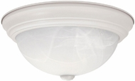 Capital Lighting 219031MW Matte White Flush Mount Light Fixture