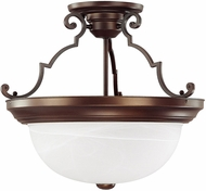 Capital Lighting 2717BB Burnished Bronze Semi-Flush Flush Mount Lighting Fixture