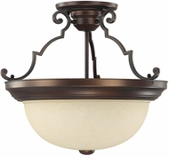Capital Lighting 2747BB Burnished Bronze Semi-Flush Ceiling Light Fixture
