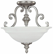 Capital Lighting 3071MN Chandler Matte Nickel Semi-Flush Overhead Light Fixture