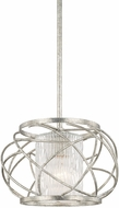 Capital Lighting 310611AS-301 Riviera Contemporary Antique Silver 12  Pendant Lighting