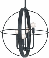 Capital Lighting 312541BI Pendants Modern Black Iron 18.5  Ceiling Pendant Light
