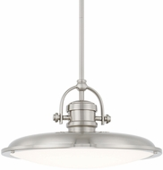 Capital Lighting 317312BN-LD Pendants Brushed Nickel LED Hanging Pendant Light