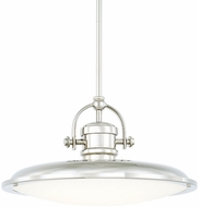 Capital Lighting 317312PN-LD Pendants Polished Nickel LED Pendant Hanging Light
