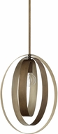 Capital Lighting 324911SZ Dahlia Contemporary Silver and Bronze Pendant Light Fixture