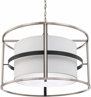 Capital Lighting 325241BT Tux Modern Black Tie Drum Hanging Pendant Lighting