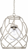 Capital Lighting 325611AS-443 Contemporary Antique Silver Pendant Hanging Light