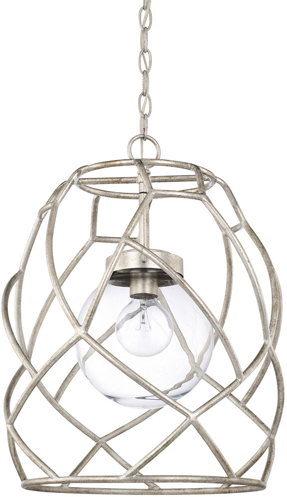 Capital Lighting 325611as 443 Contemporary Antique Silver Pendant Hanging Light Cpt 325611as 443