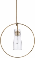 Capital Lighting 325715AD Modern Aged Brass Ceiling Pendant Light