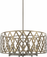 Capital Lighting 325761AM Contemporary Aged Metal Drum Pendant Lighting