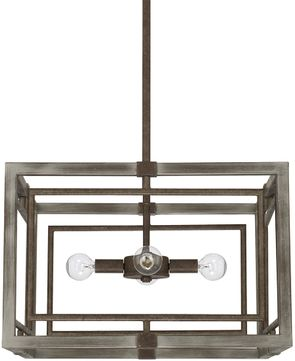 Capital Lighting 325941ug Zac Modern Urban Grey Pendant